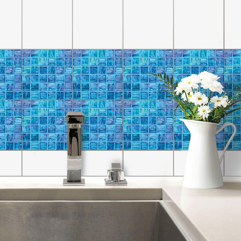 Decorazione per piastrelle mosaico di vetro wall for Adesivi murali per bagno