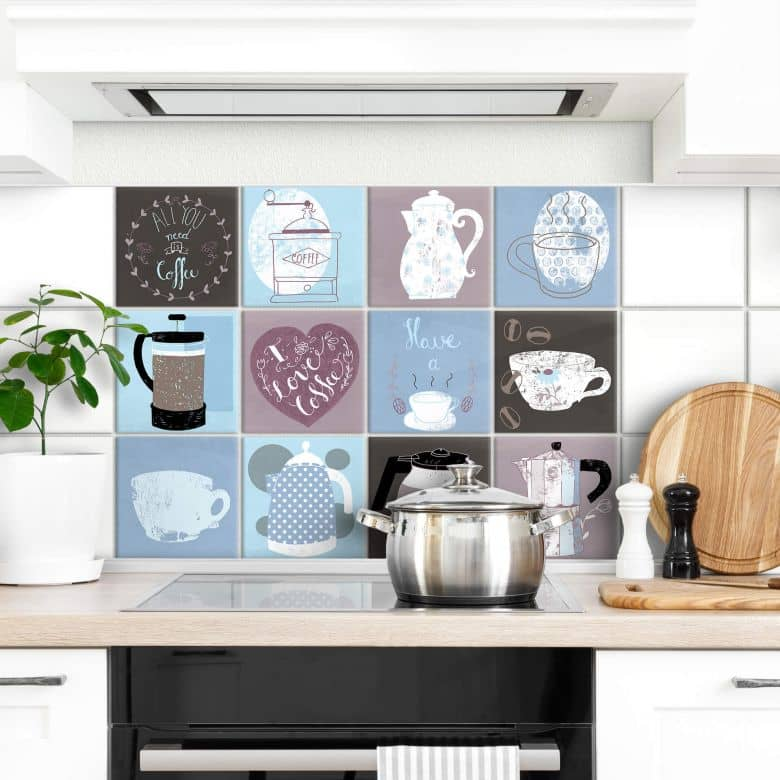 Tile stickers Loske – Coffee Time