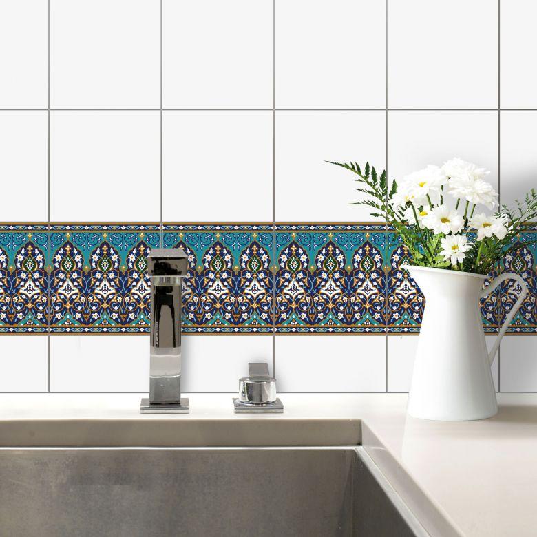 fliesendeko sarvar blumen orientalisches flair f r das badezimmer wall. Black Bedroom Furniture Sets. Home Design Ideas
