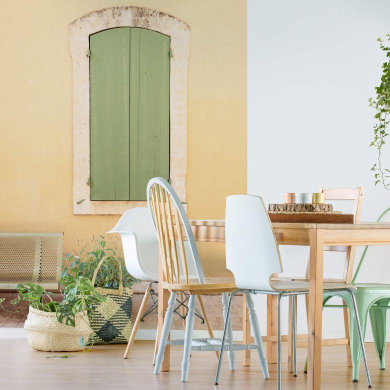 Fototapete Hugonnard - Grünes Holzfenster