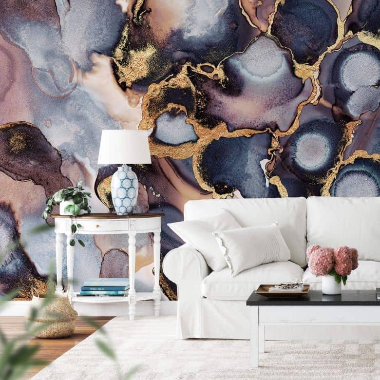 Fototapete Fredriksson - Tinte: Rosé und Gold