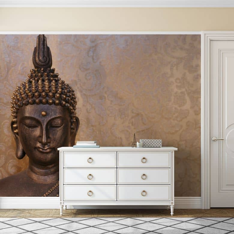 fototapete buddha der weise im asiatischen feng shui stil wall. Black Bedroom Furniture Sets. Home Design Ideas