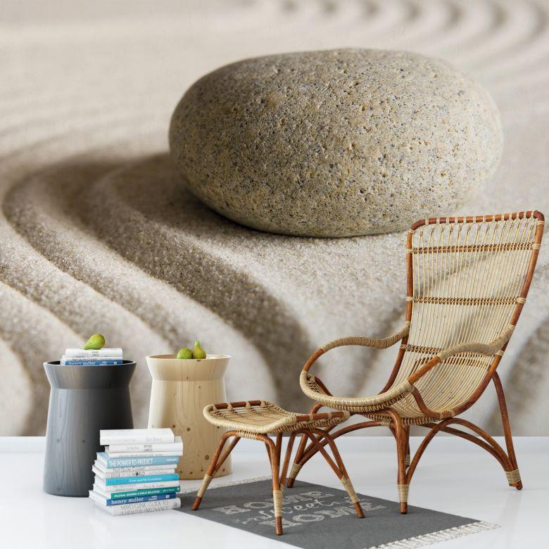 Fototapete Stone in Sand - 384x260 cm