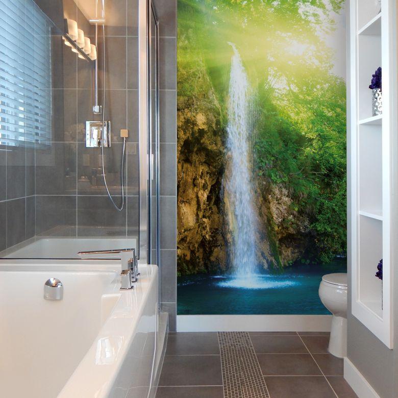 Fototapete - Blue Waterfall - 192x260 cm