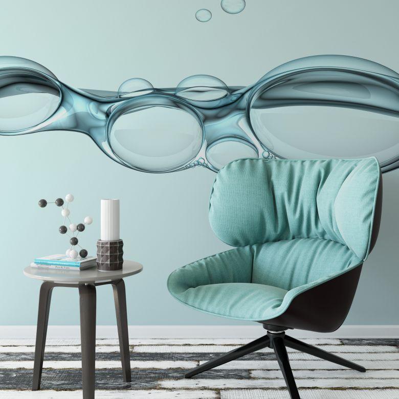 Fototapete Bubbles - 288x260 cm