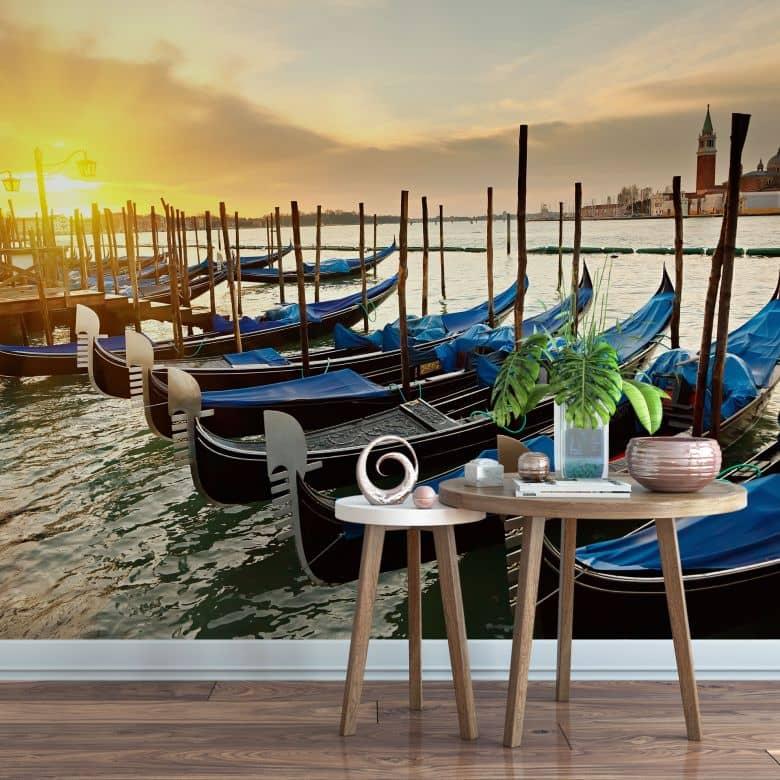 Fototapete Venezianische Gondeln - 336x260 cm