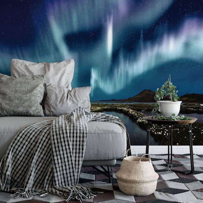 fototapete 250x250, fototapete northern light von k&l wall art | wall-art.de, Design ideen