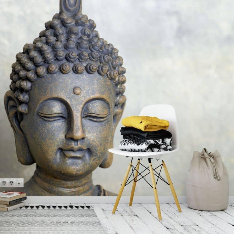 Papier peint photo Visage de Bouddha - 384x260 cm