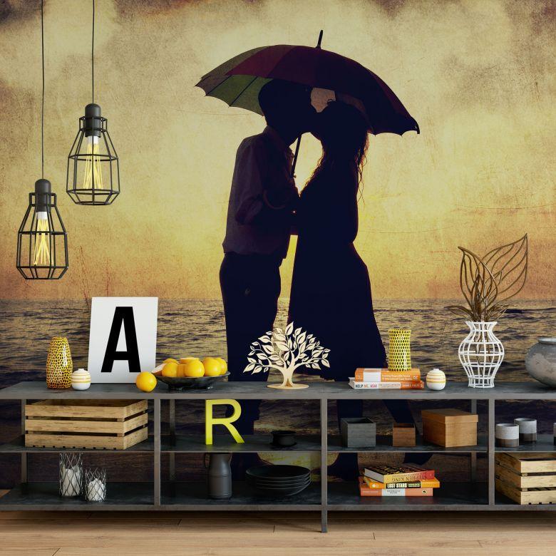 Papier Peint Photo Couple d'amoureux au coucher du soleil