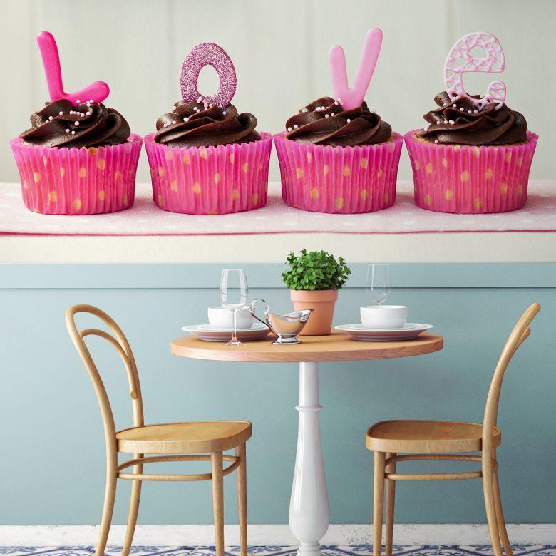 Fototapete Lovely Cupcakes - 384x260 cm