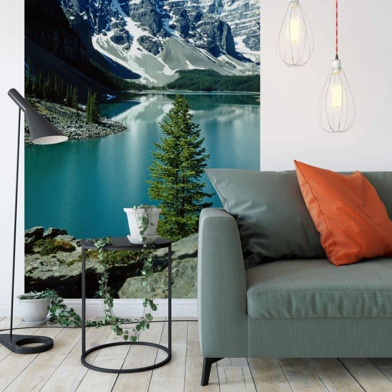 Fototapete Bergsee Idylle - 192x260 cm
