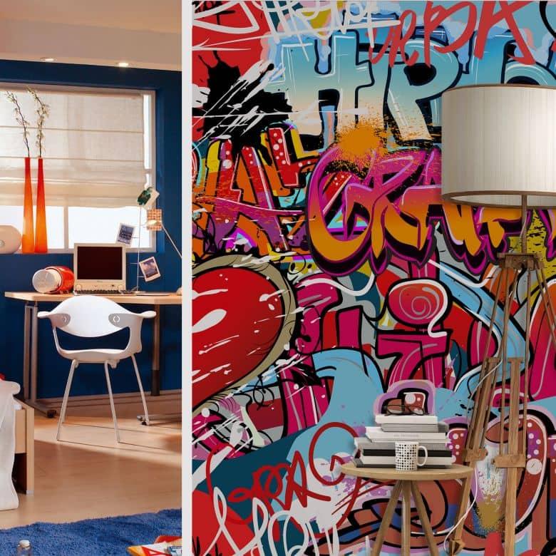 fototapete graffiti hip hop von k l wall art wall. Black Bedroom Furniture Sets. Home Design Ideas