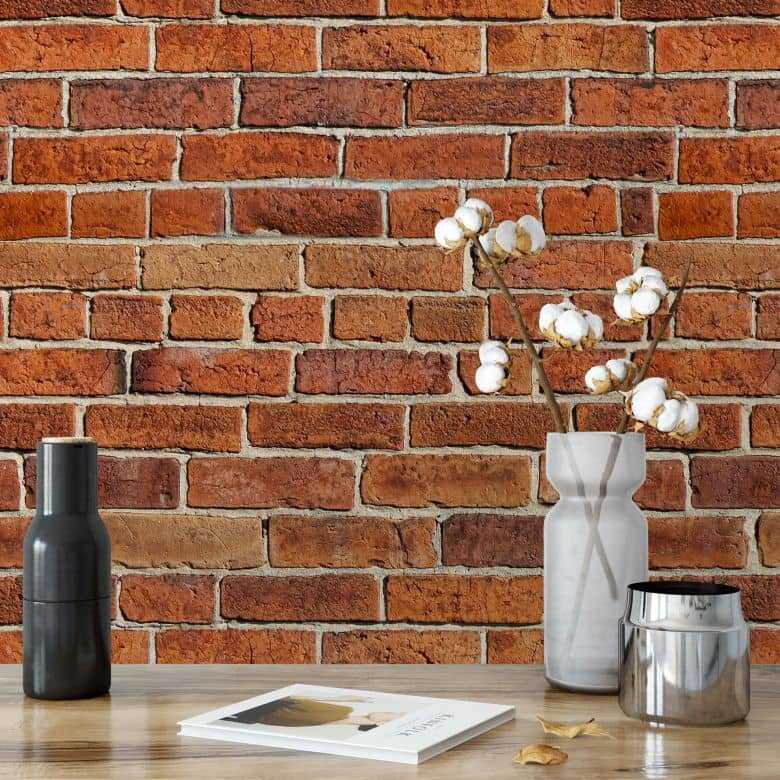 fototapete ziegelsteinmauer gro fl chige wanddeko f r zuhause wall. Black Bedroom Furniture Sets. Home Design Ideas