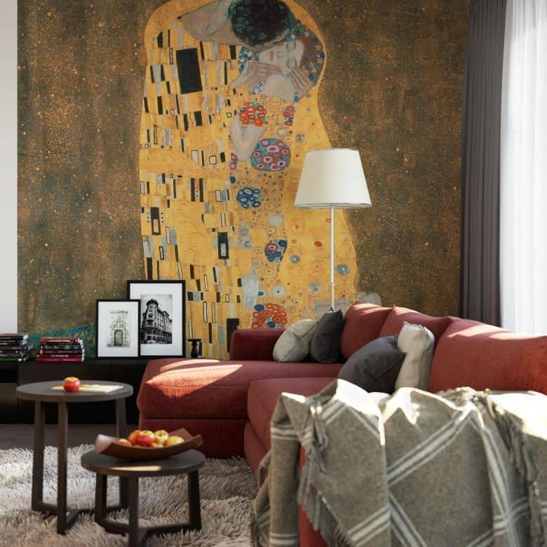Klimt - The Kiss - Photo Wallpaper