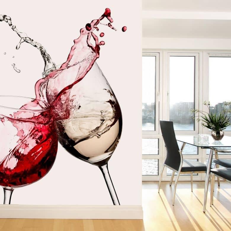 Wine Glasses Photo Wallpaper