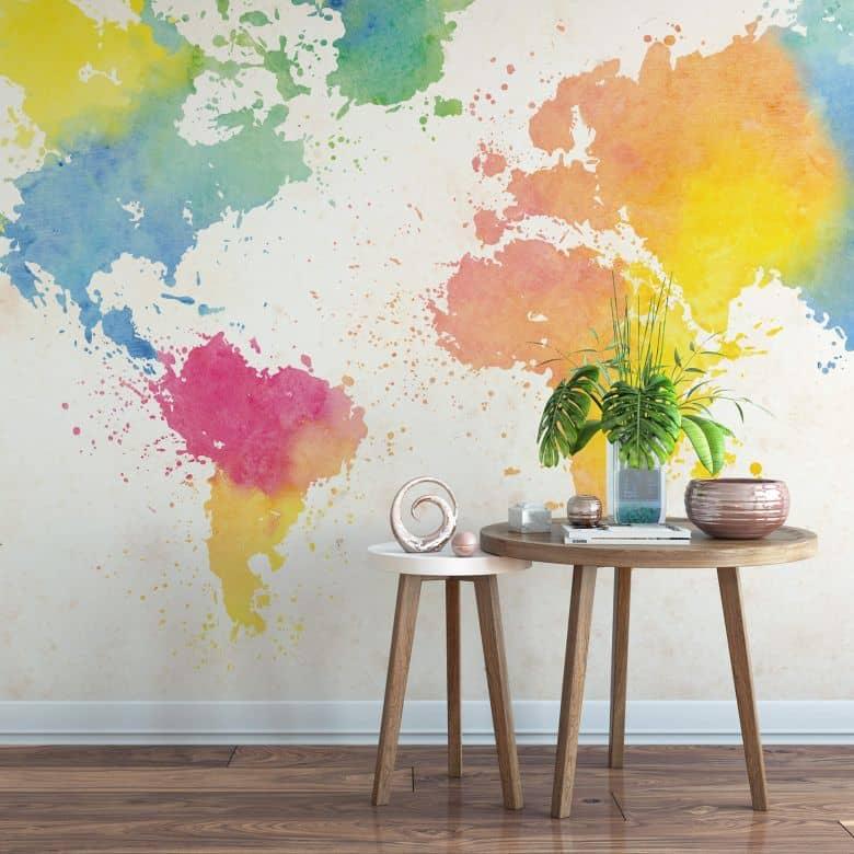 Fototapete Weltkarte - Watercolour