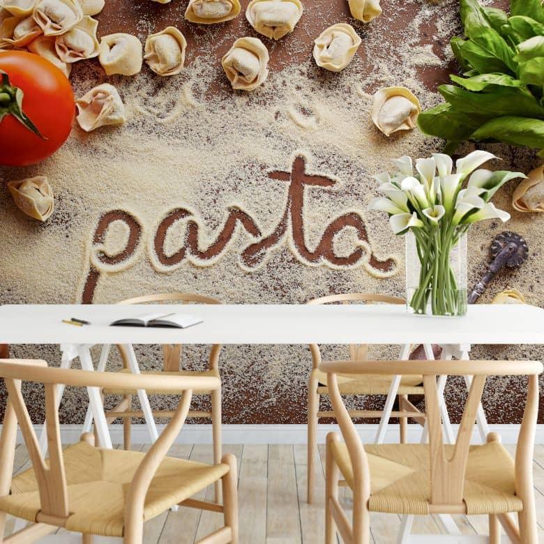 Fototapete Pasta - Tortellini - 384x260 cm