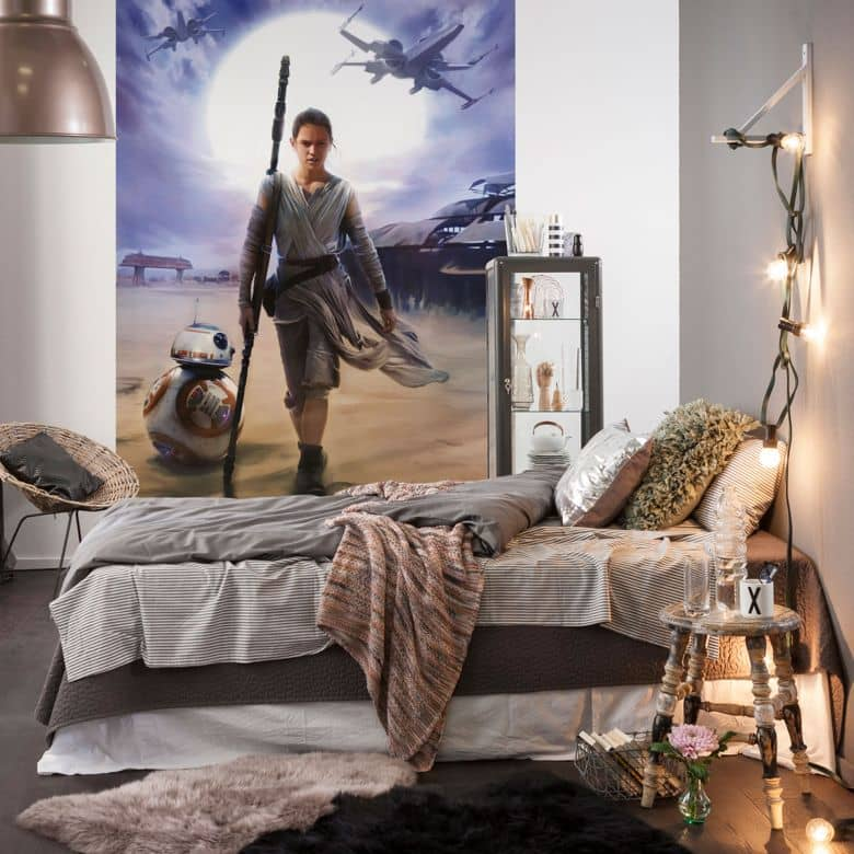 fototapete papiertapete star wars rey 4 448 wall. Black Bedroom Furniture Sets. Home Design Ideas