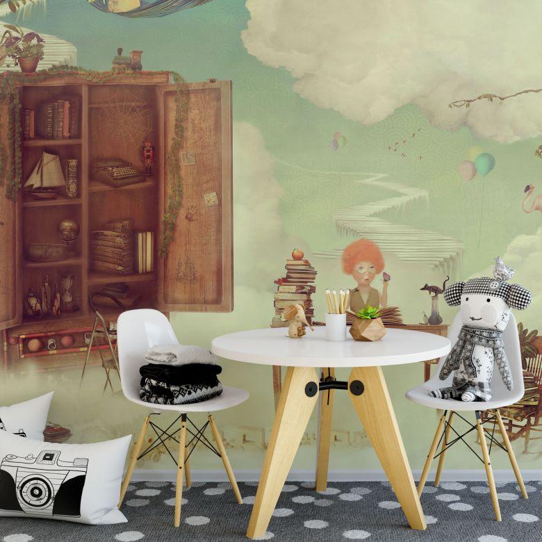 fototapete 250x250, fototapete himmlisches leben | wall-art.de, Design ideen