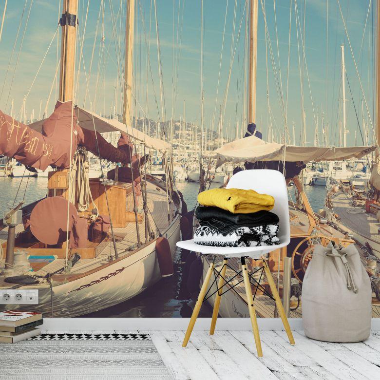 Fototapete Segelschiffe im Hafen