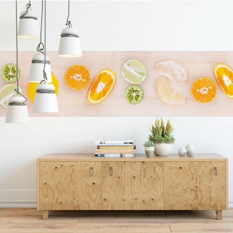Fotobehang Fruitsap Recept - Panorama