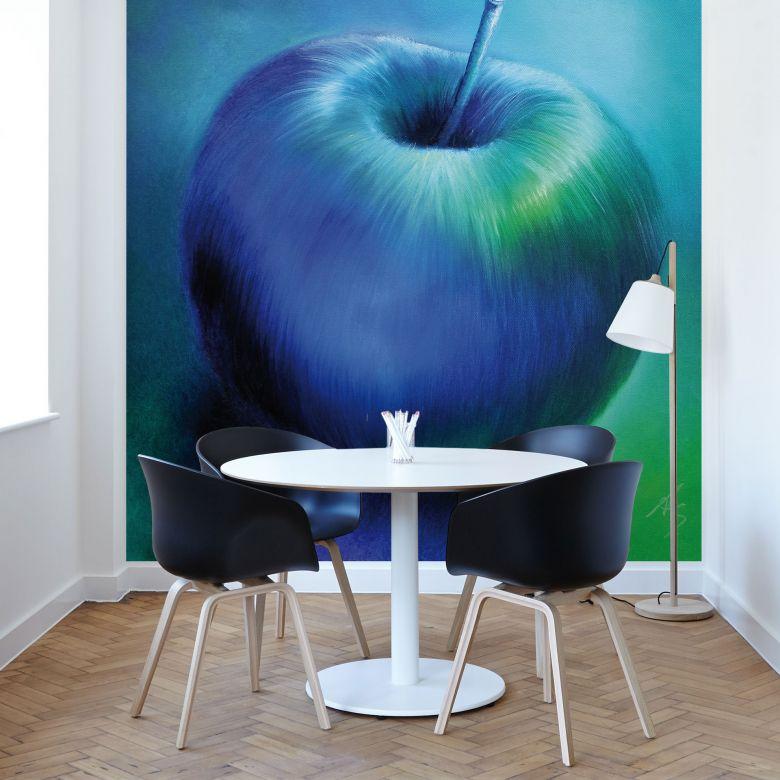 Fototapete Schmucker - Blauer Apfel
