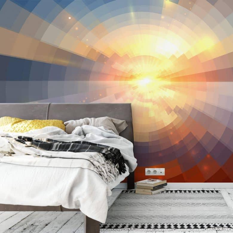 Fototapete - Sonnenuntergang im Mosaik