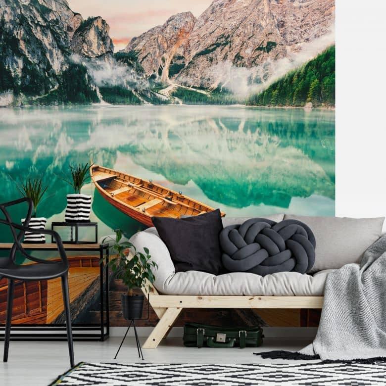 Fototapete Lago di Braies