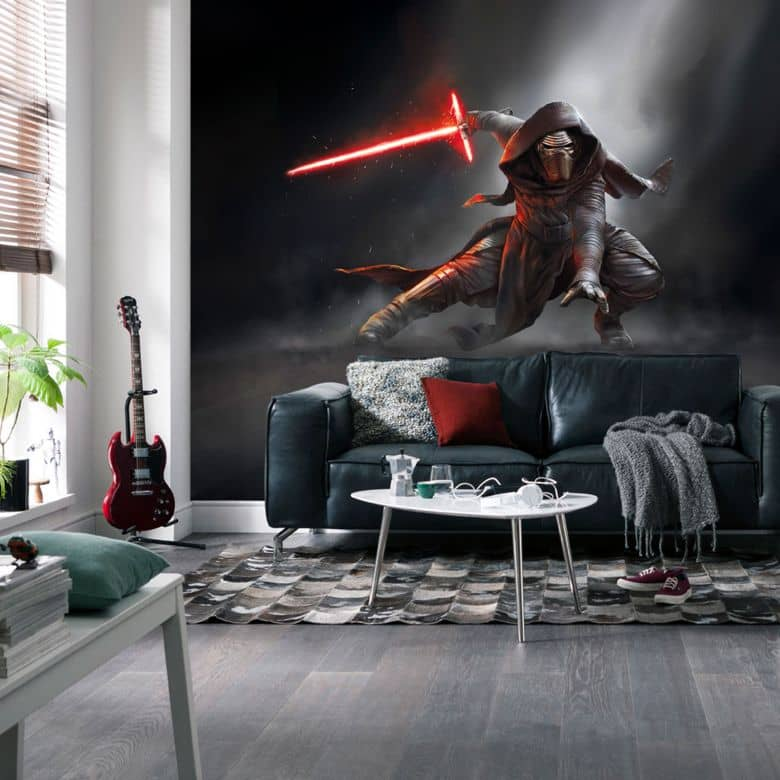 fototapete papiertapete star wars kylo ren 8 491 wall. Black Bedroom Furniture Sets. Home Design Ideas