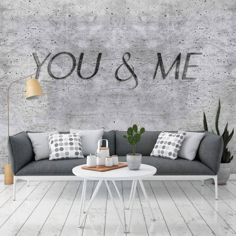 Fototapete Beton - You and me