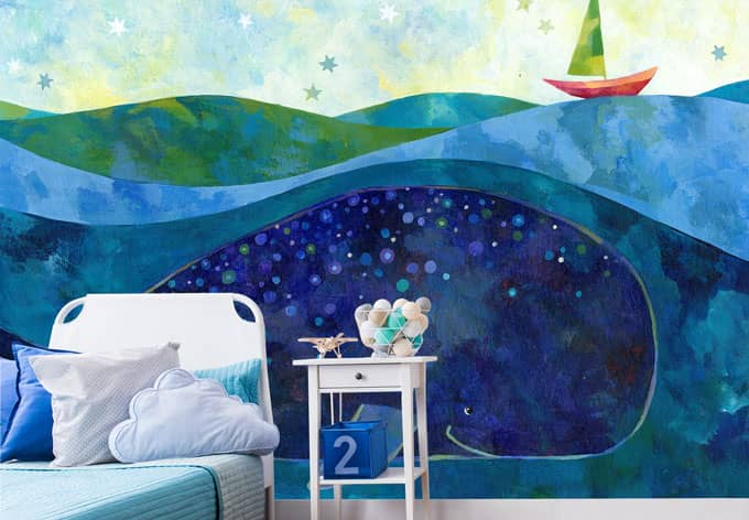 Papier peint photo Blanz - La Baleine