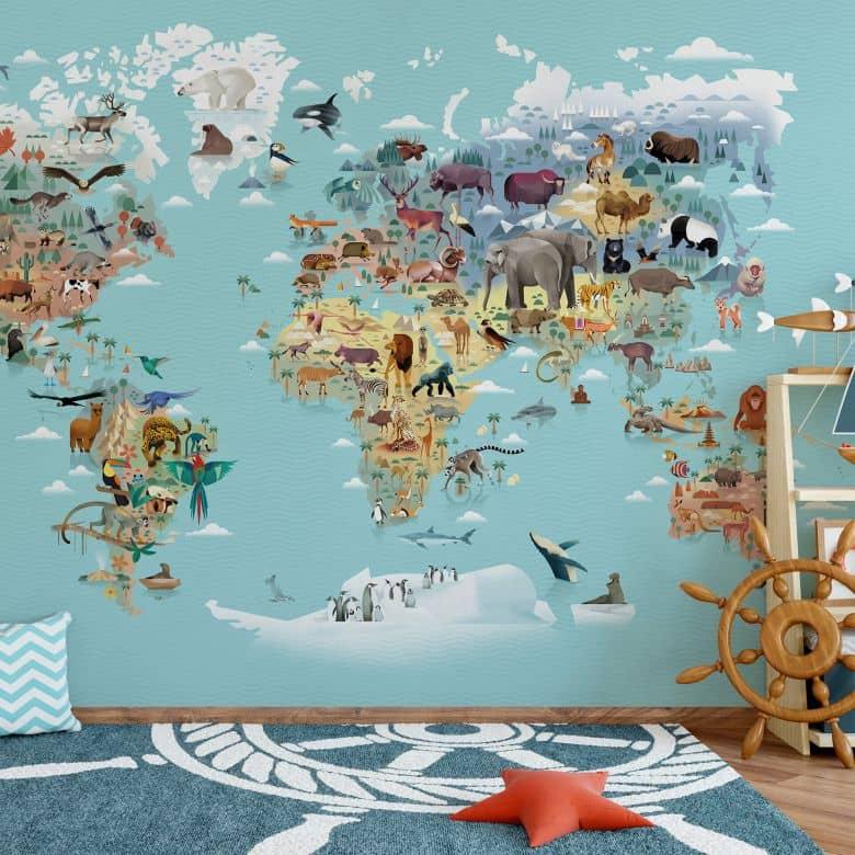 Fototapete Braun - World Map