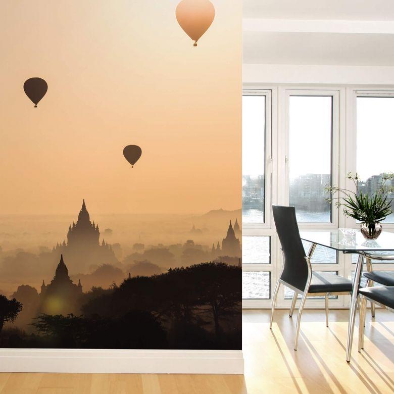 Fototapete Colombo - Der Morgen über Bagan