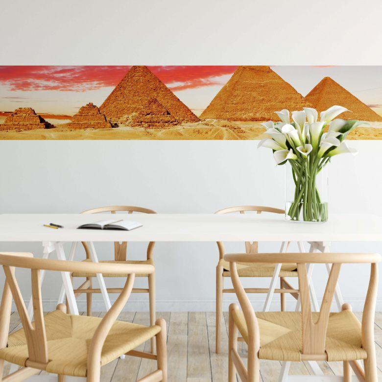 Fototapete Die Pyramiden von Gizeh - Panorama - 48x260 cm