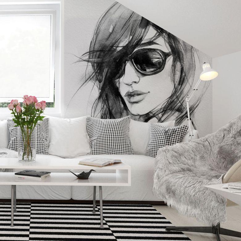 Fototapet I Wear My Sunglasses - 288x260 cm