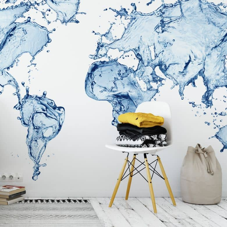Fototapete - Splashing World Map