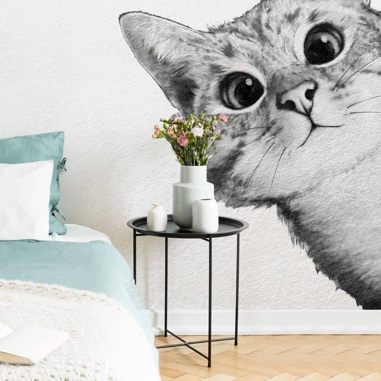 Fototapete Graves - Sneaky Cat