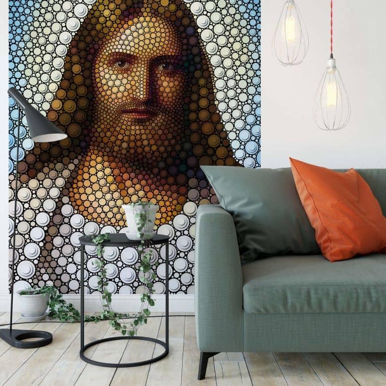Fotobehang Ben Heine - Circlism - Jesus Christ