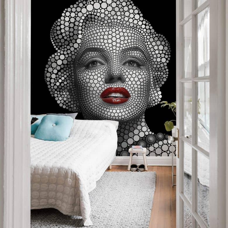 Fotobehang Ben Heine - Circlism: Marilyn Monroe