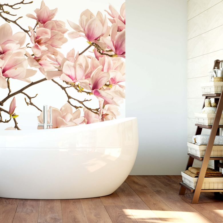 Fototapete Kadam - Flora Magnolia im Frühling - 144x260 cm