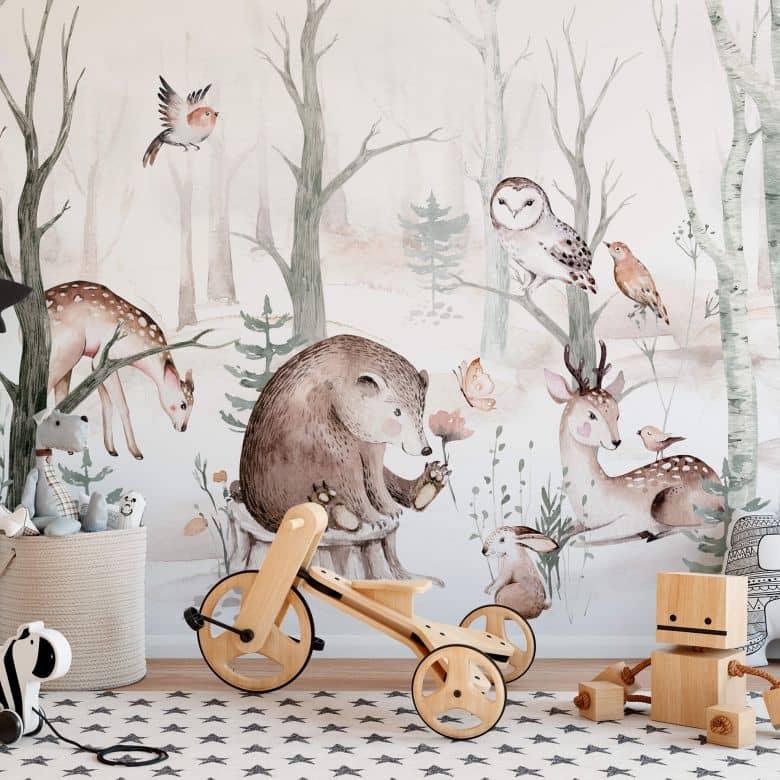 Photo Wallpaper Kvilis - Forest Friends
