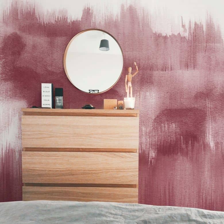 Fototapete Nouveauprints - Watercolour Brush Strokes (rosé)
