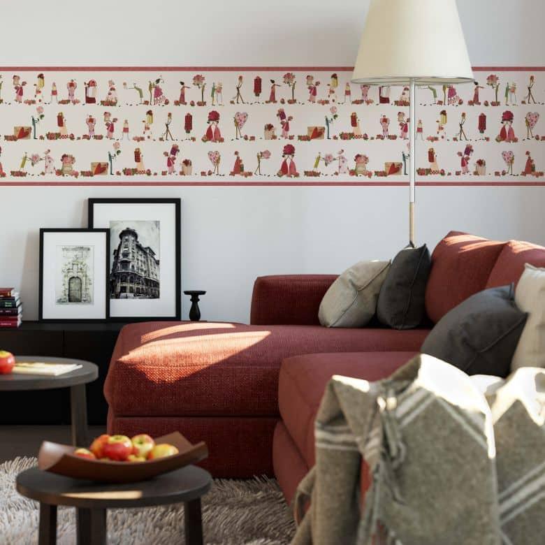 Papier peint photo Leffler Fées et roses - Panorama