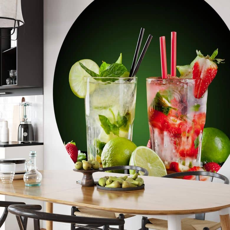 Fototapete Cocktail Hour - Rund