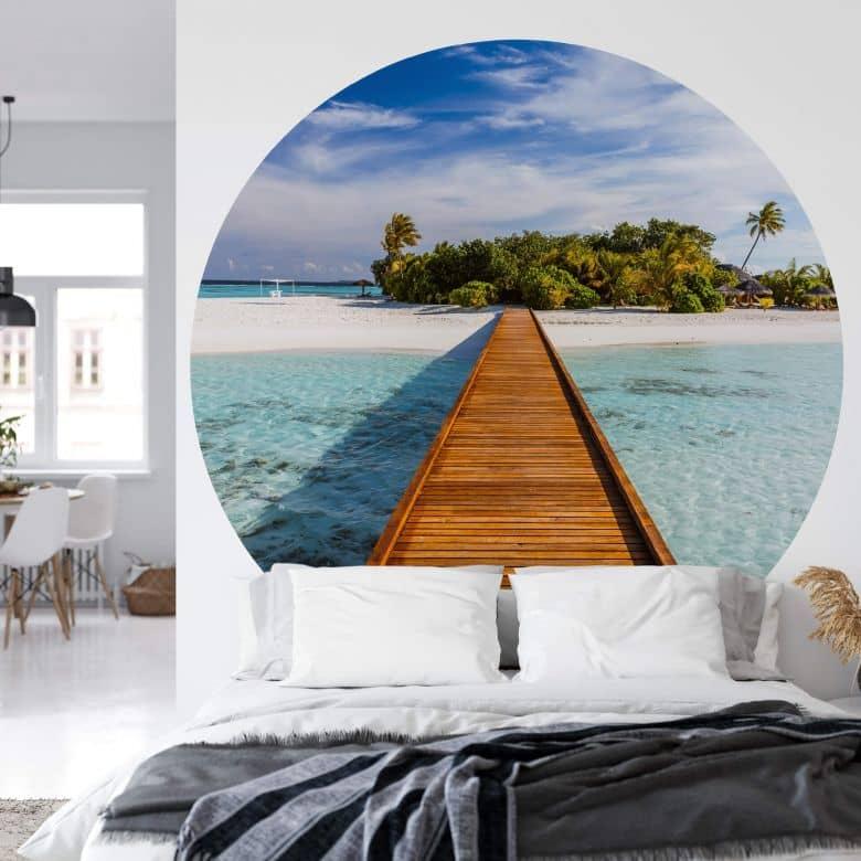 Fototapete Colombo - Paradies in der Südsee - Rund