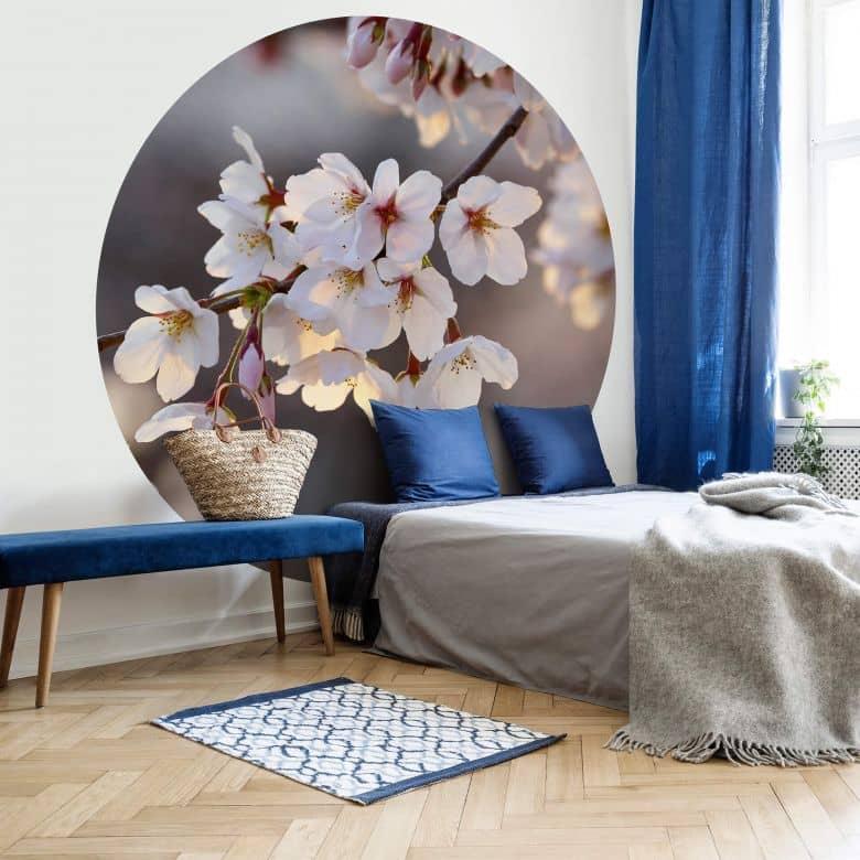 Papier peint photo Fleurs de Cerisier - Rond