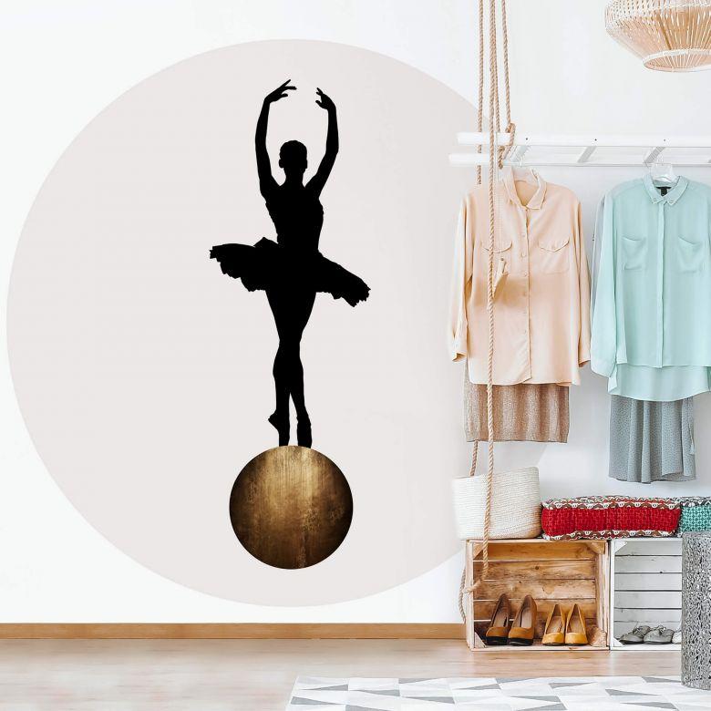 Fototapete Kubistika - Prima Ballerina - Rund