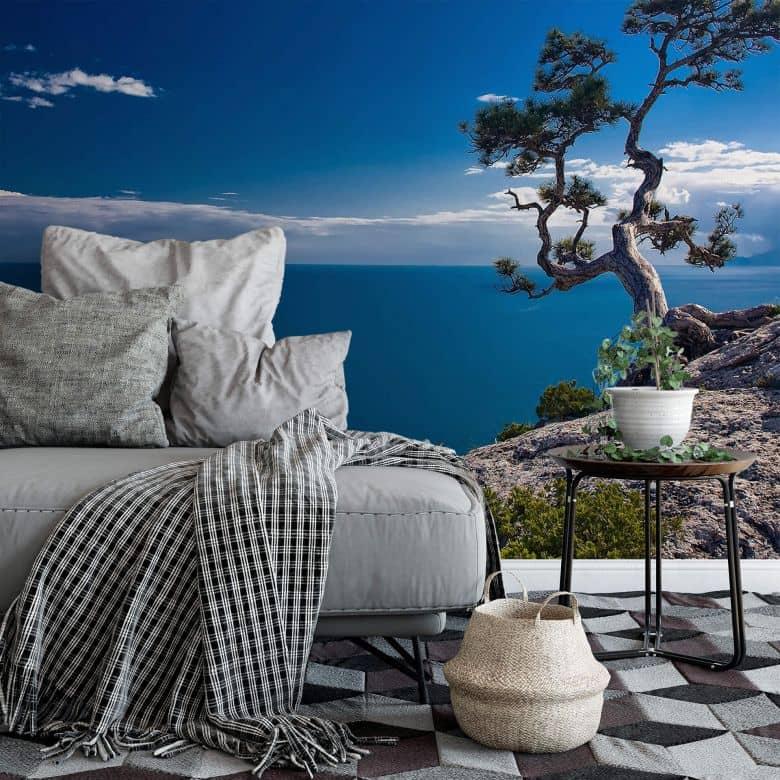 Sea and Tree - Photo Wallpaper