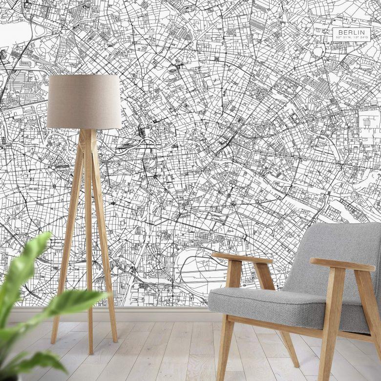 Fototapete Stadtplan Berlin