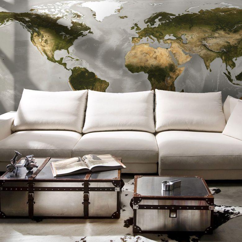 Photo Wallpaper Fleece World XXL